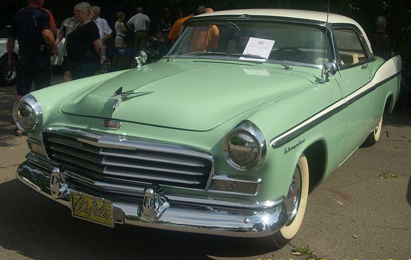 New styling on the 1956 Chrysler Windsor Newport
