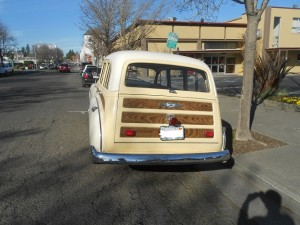 1949 Chevy deluxe Woody rear