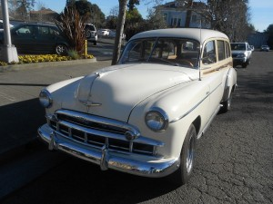 Long hood front end of the 1949 Chevrolet Wagon
