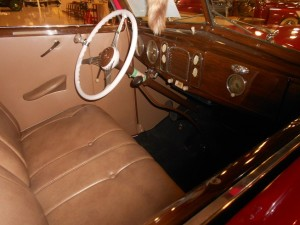 1938 Ford Deluxe Coupe interior