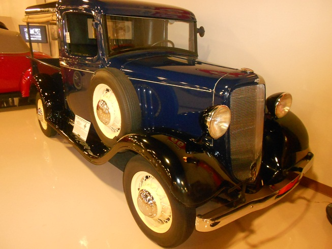 Modified and restored 1935 Chevy Truck