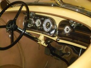1935 Auburn Speedster interior and dash