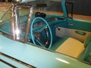 Edsel Corsair front seat and dashboard