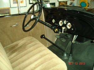 1935 Chevy Three window Coupe interior and dash