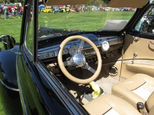 Ford Super Deluxe Eight interior and dashboard