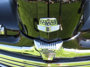 1947 Ford Super Deluxe Eight grille emblem