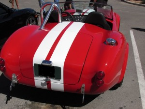 Shelby Cobra classic racing stripes