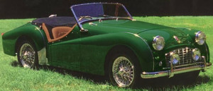 triumph tr 3 british green
