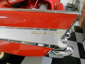 57 chevy tail fins