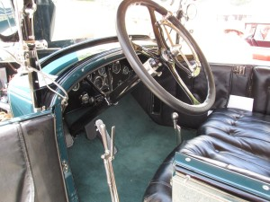 locomobile dashboard and interior